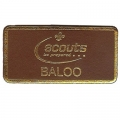 Leather Baloo Badge