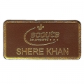 Leather Shere Khan Badge