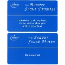 Beaver Scout Promise and Law Card