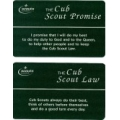Cub Scout Promise and Law Card