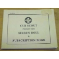 Cub Scout Sixers Roll Book