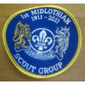 1st Midlothian Gorebridge Scout Group 100 years badge