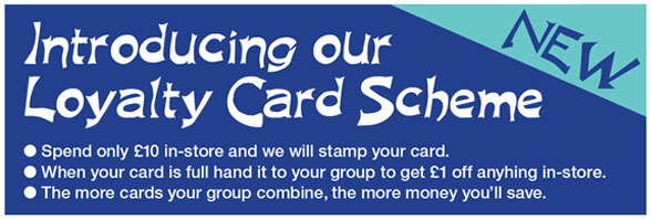 loyalty card scheme for guide and scout groups